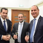 Thomas Kazakos-Director General, Cyprus Shipping Chamber, Yiannos Mouzouris-Business Development Manager, Interorient Shipmanagement, Adonis Violaris-Marketing Director, Interorient Shipmanagment